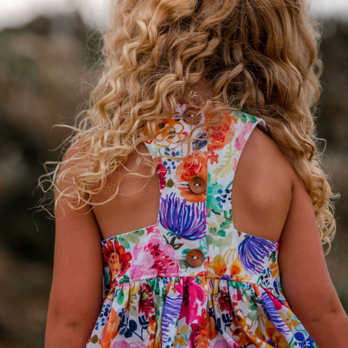 Full bloom racer back party dress