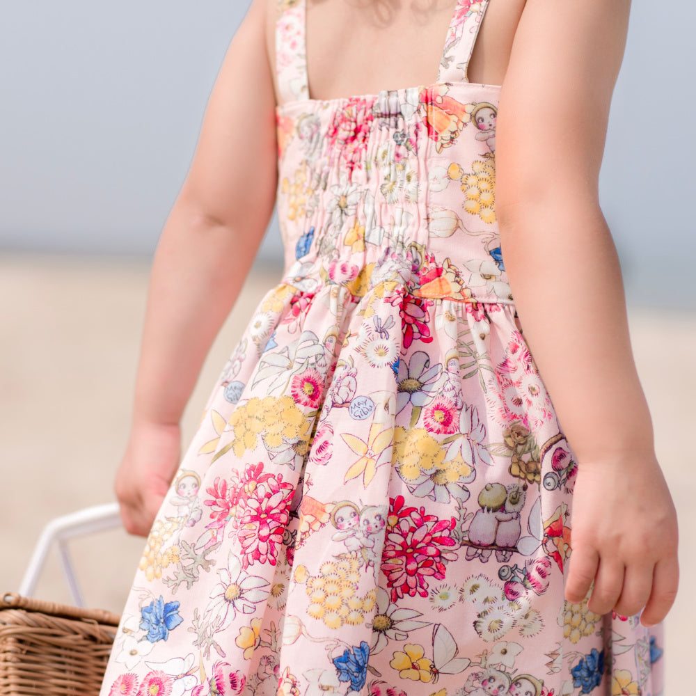 Sunny day dress in May Gibbs Gumnut Friends
