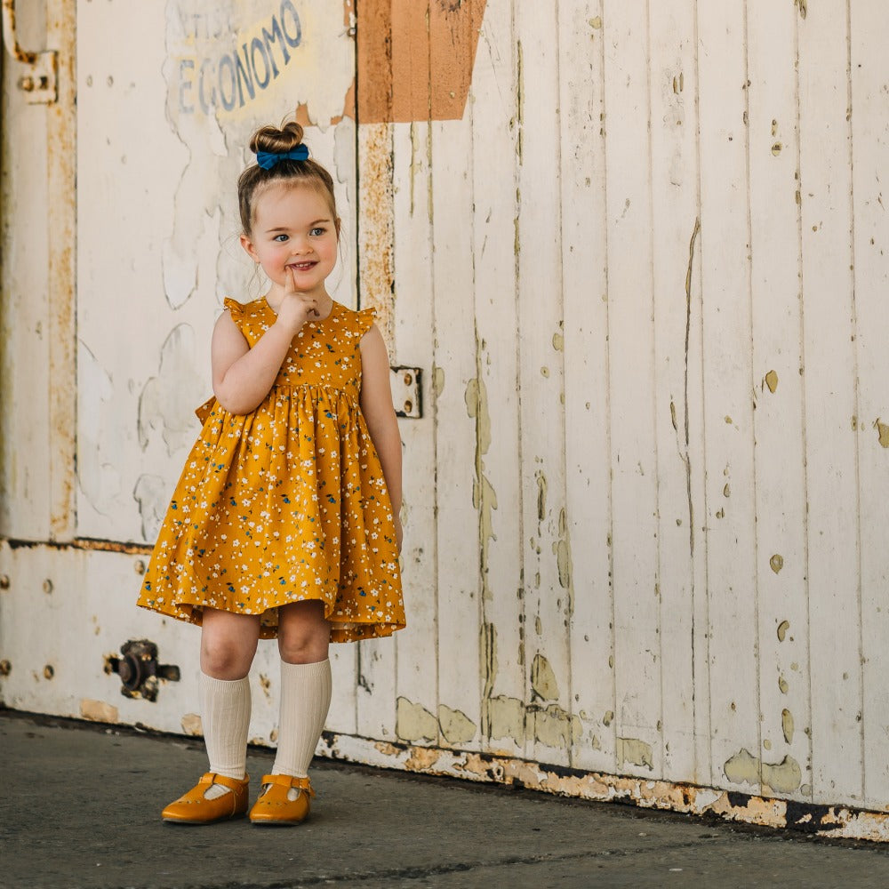 Maggie Floral Pinafore Dress