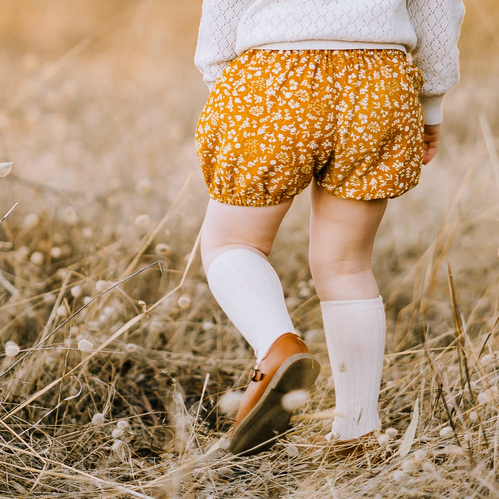 Mustard floral Corduory  Bloomers