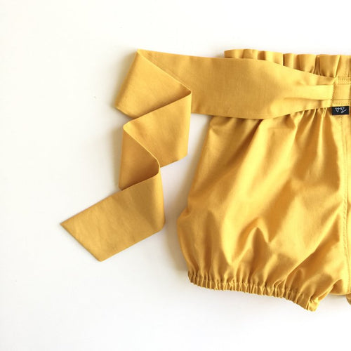Mustard Sash Shorties