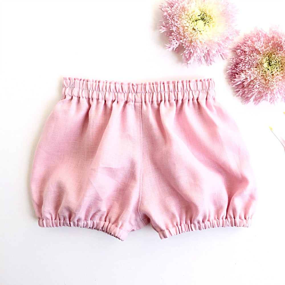 Petal Pink Linen bloomies