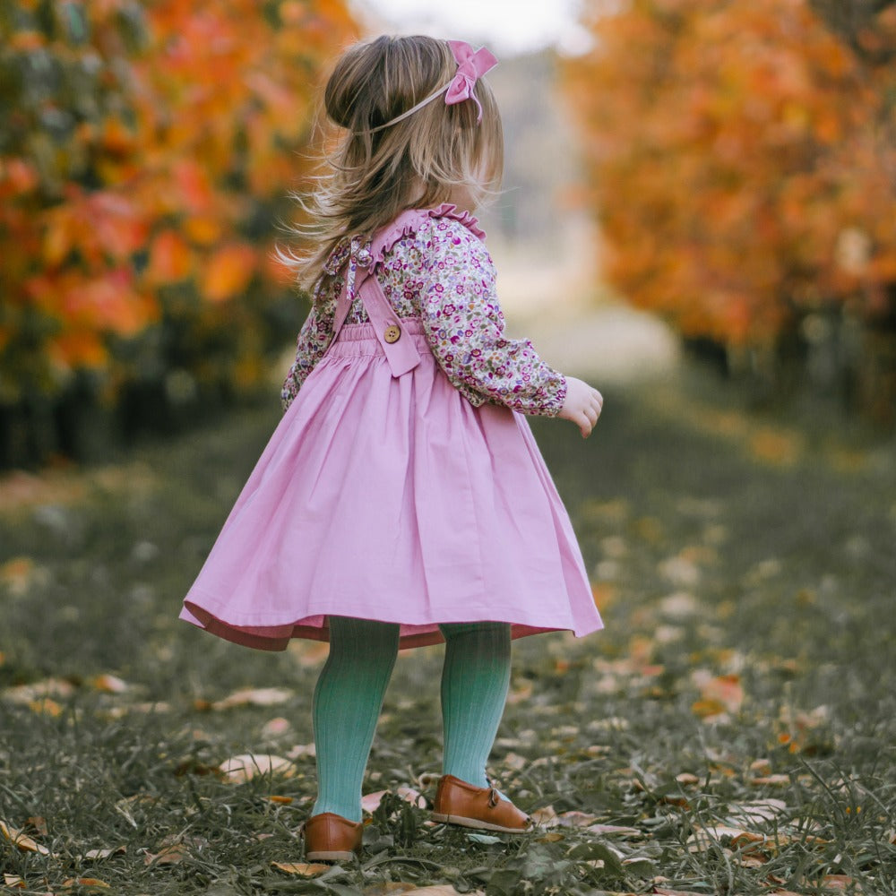 Harvest Pinafore (Pink)