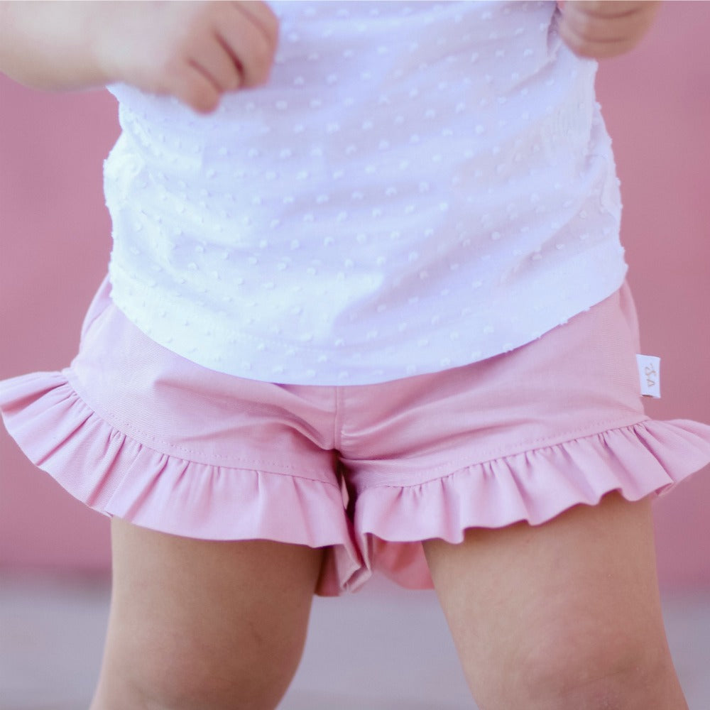Soft Pink Ruffle shorties
