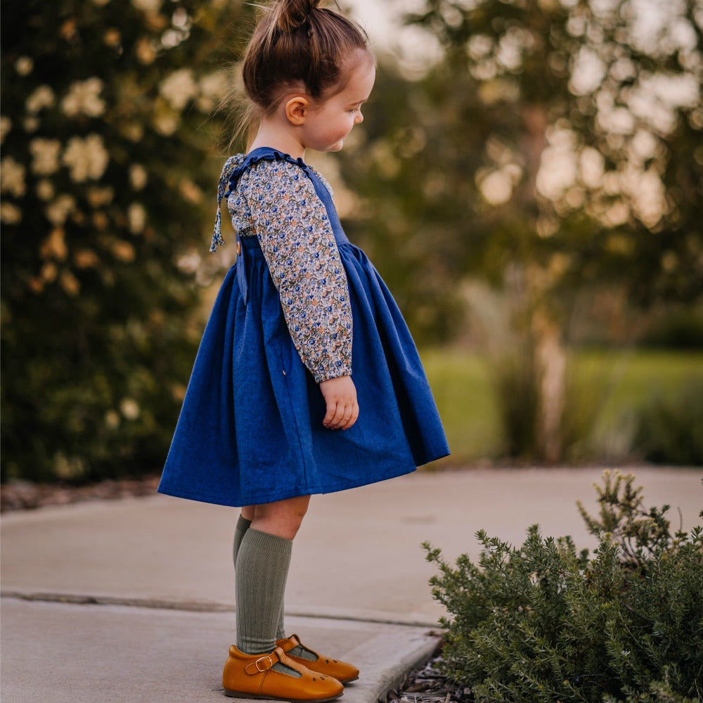 Harvest Pinafore (Blue)