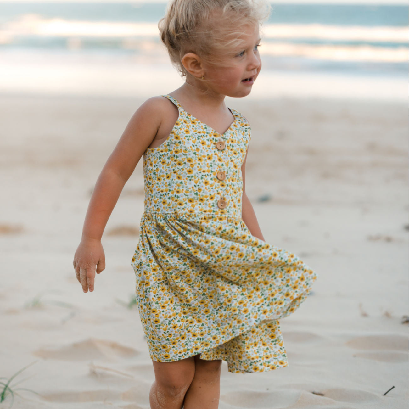 Sunny day dress in Sunflower