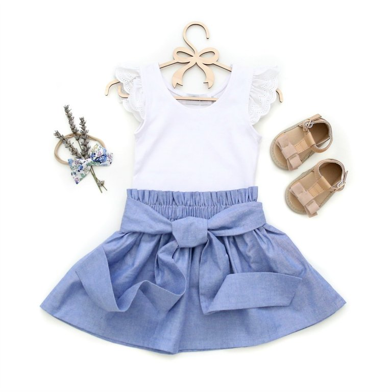 Chambray Sash Skirt