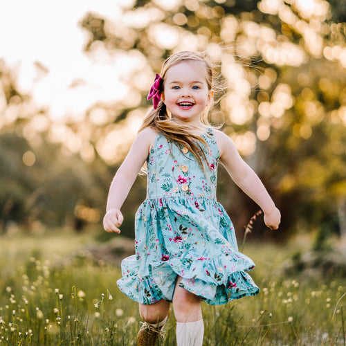 Sunny day dress in Vintage Teal