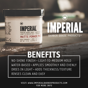 Imperial Barber Matte Pomade paste benefits