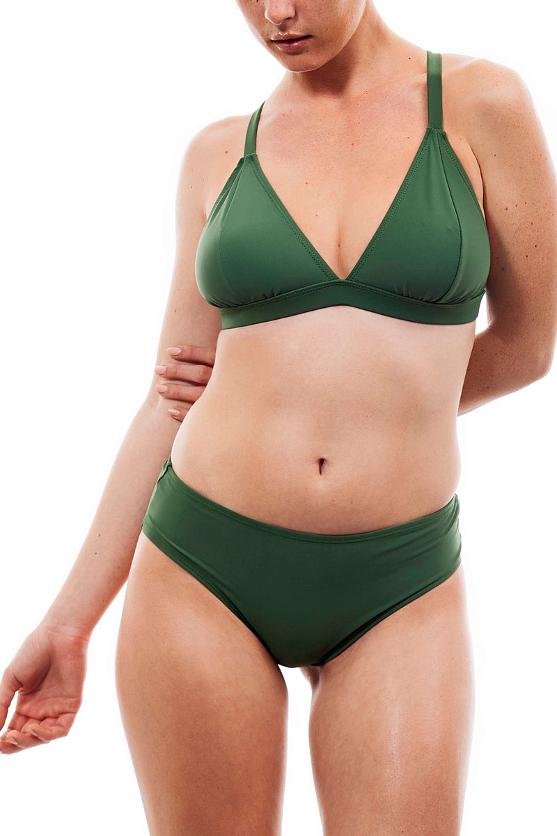 light cross +basic bottom olive color - בגד ים נויקה | ביקיני, בגד ים שלם bikini Noyka Surf