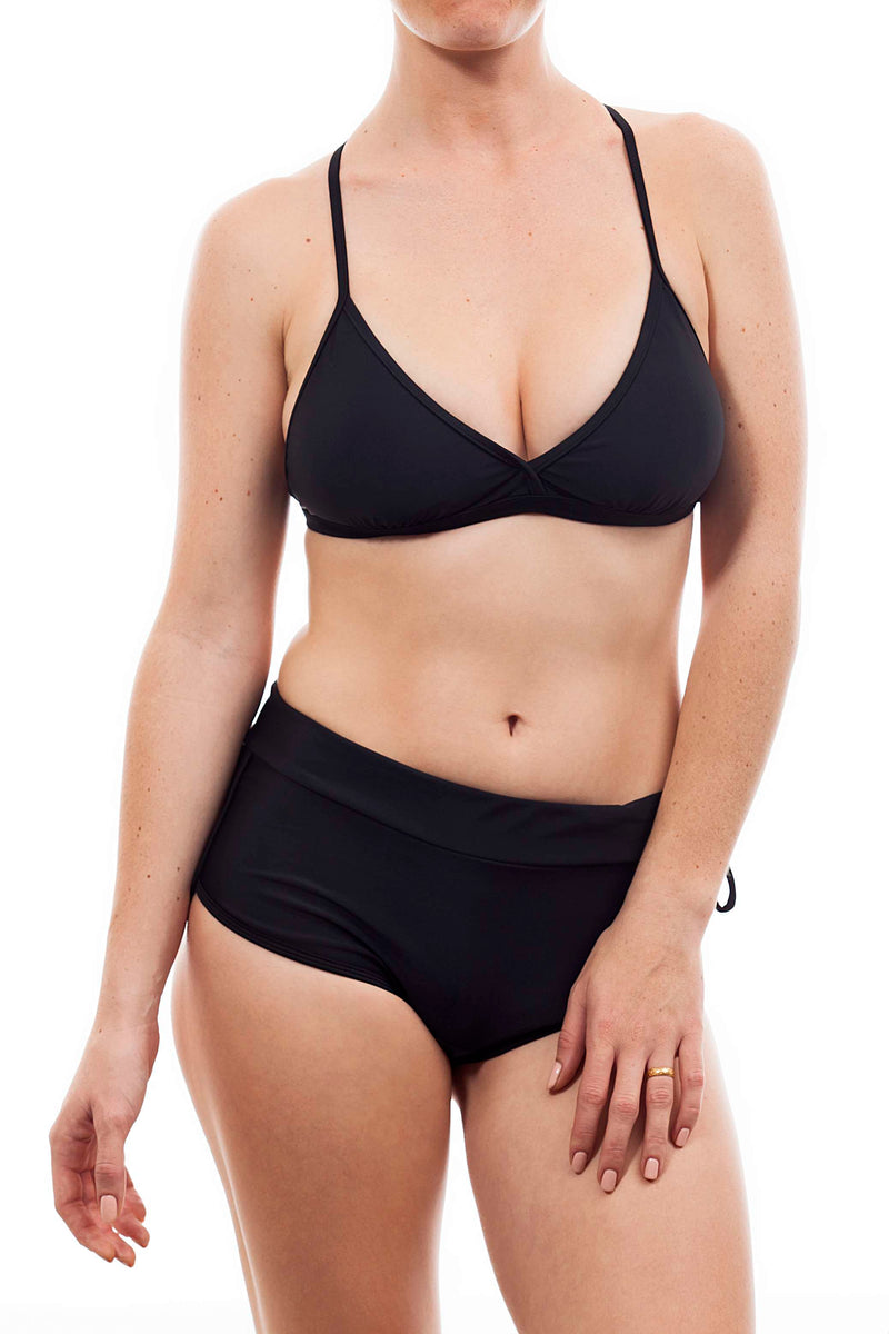 Sporty top + short - Black color - בגד ים נויקה | ביקיני, בגד ים שלם bikini Noyka Surf