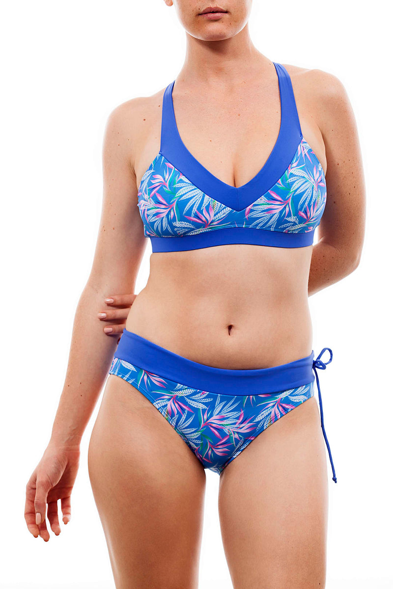 Cross top + comfy bottom - paradise print - בגד ים נויקה | ביקיני, בגד ים שלם bikini Noyka Surf