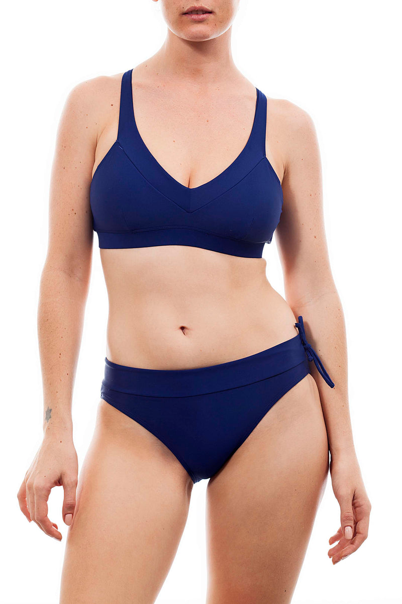 Cross top + comfy bottom  Navy - בגד ים נויקה | ביקיני, בגד ים שלם bikini Noyka Surf