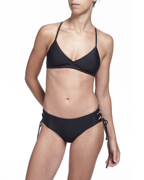 Sporty Top & Wild Bottom - Black - בגד ים נויקה | ביקיני, בגד ים שלם bikini Noyka Surf