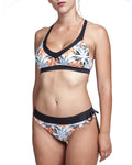 Cross Top & Comfy Bottom - Flower - בגד ים נויקה | ביקיני, בגד ים שלם bikini Noyka Surf