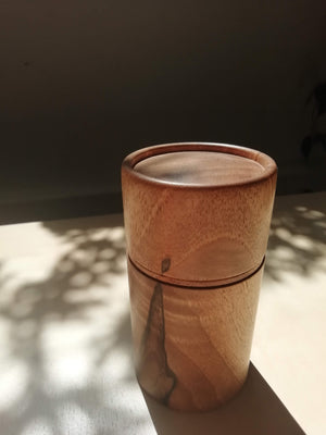 Filipe Ribeiro - Woodturned Portuguese Walnut Box - A Luz Natural