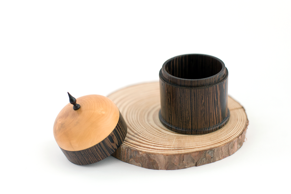 Filipe Ribeiro - Woodturned Panga Panga Box - A Luz Natural