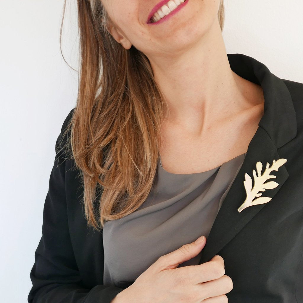 BiCa - Sparkle brooch | Fern - A Luz Natural