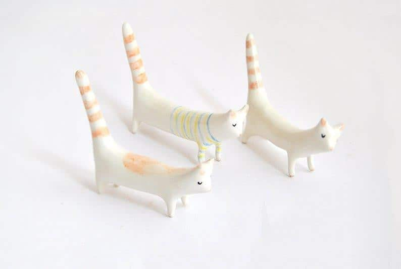Barruntando Ceramics - Miniature Cat - A Luz Natural