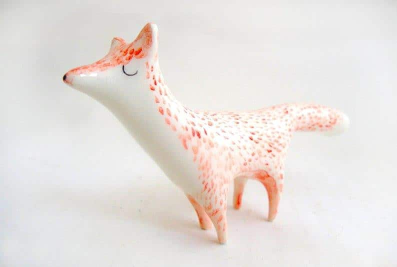 Barruntando Ceramics - Miniature Fox - A Luz Natural