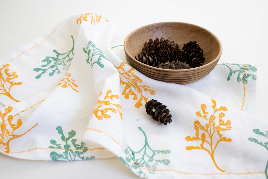 Botanical Linen Tea Towel | Acer pseudoplatanum - A Luz Natural