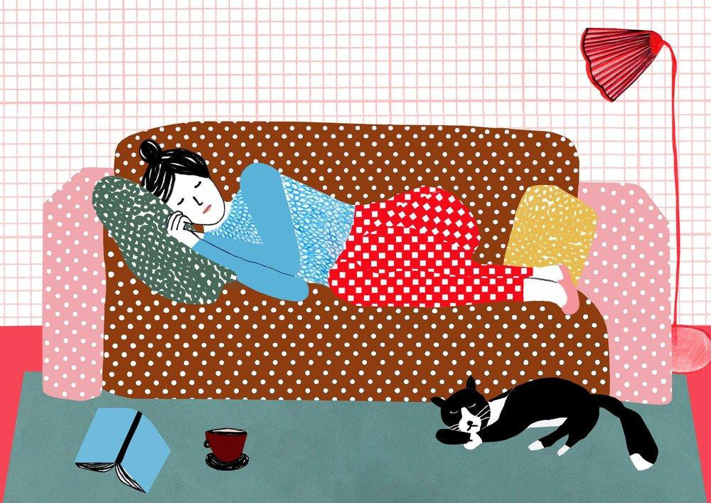 Manon de Jong | Print Sleepy Days (A4) - A Luz Natural