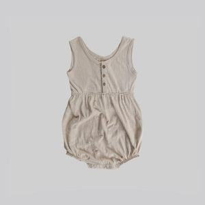Bubble Romper - Oat