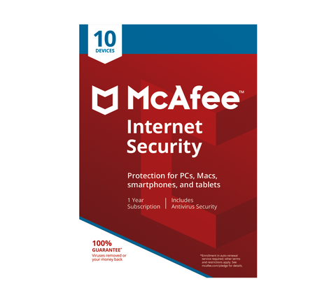 McAfee Internet Security All 10 Devices 1 Year