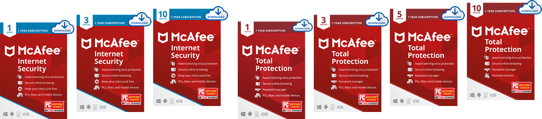 McAFee Total Protection McAfee Internet Security Antivirus Software