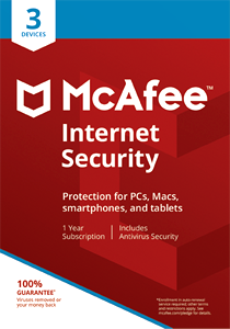 McAfee Internet Security Antivirus 3 Devices