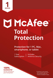 McAfee Total Protection Antivirus 2018 1 Device