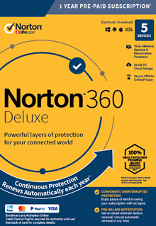 Norton Internet Security 360 Deluxe 5 Devices