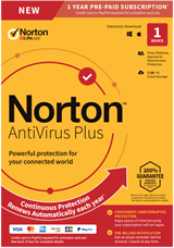 NEW Norton Antivirus Plus 2019 1 Device