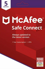 McAFee Safe Connect Premium VPN 2020 - 5 Devices - 1 Year