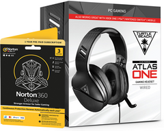 Turtle Beach Atlas One Gaming Headset + Norton 360 Deluxe 3 Devices Gamer Edition