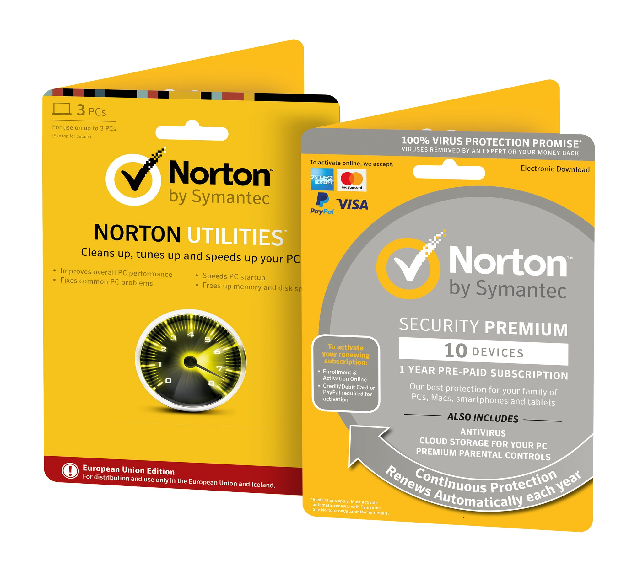 Norton Security Premium + Backup + Family Protection + Norton Utilities Tune-Up Bundle