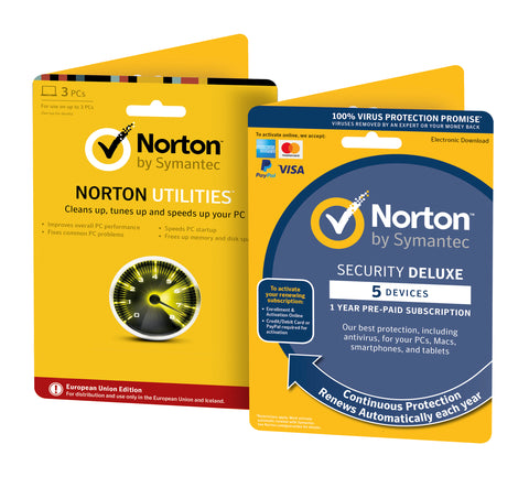 Norton Security DELUXE 5 Devices + Norton Utilities - PC Tune-Up