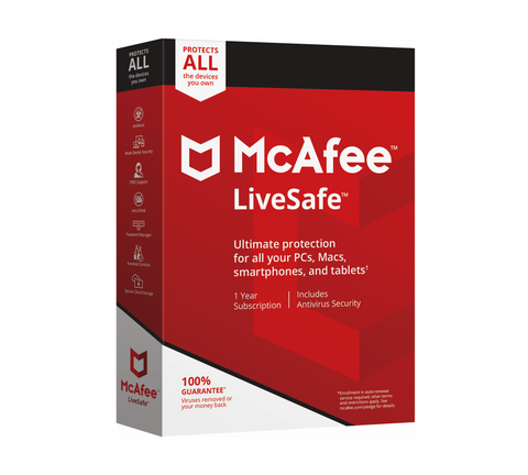 McAfee LiveSafe Antivirus 2020 Unlimited Devices