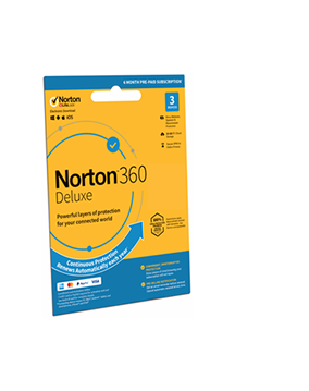 NEW Norton 360 Deluxe 3 Devices 6 Month Subscription