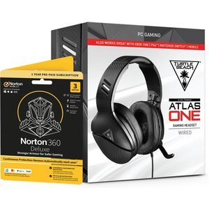 Turtle Beach Atlas One Gaming Headset + Norton 360 Deluxe 3 Devices Gaming Edition