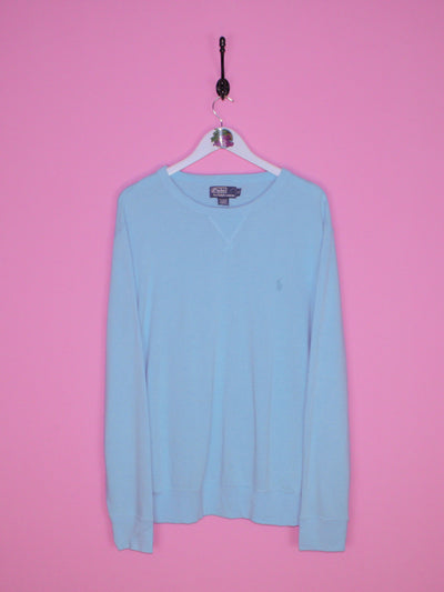 Light Blue Ralph Lauren Sweatshirt L - BB Vintage Clothing