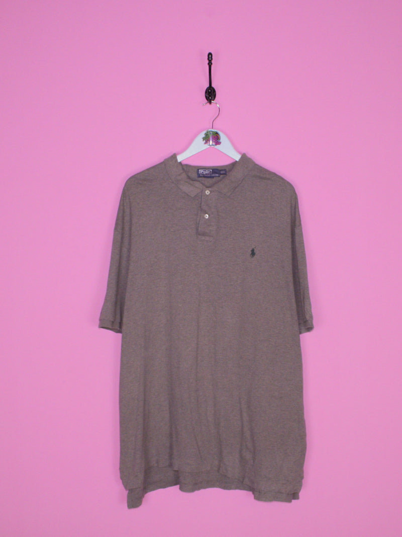Ralph Lauren Polo Shirt Grey XXL - BB Vintage Clothing