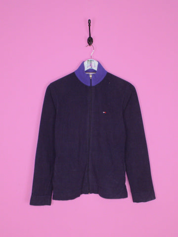 Navy Blue Tommy Hilfiger Fleece S - BB Vintage Clothing