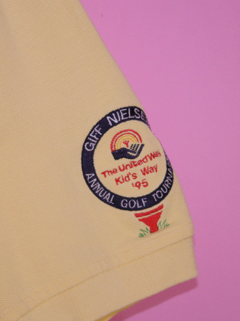 Yellow Tommy Hilfiger Polo Shirt - BB Vintage Clothing