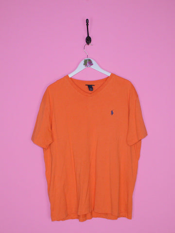 Orange Ralph Lauren T Shirt L