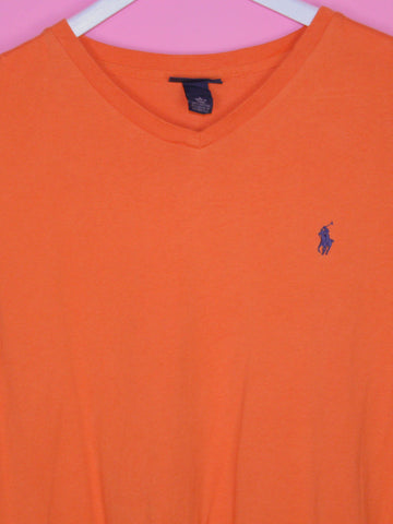 Orange Ralph Lauren T Shirt L - BB Vintage Clothing