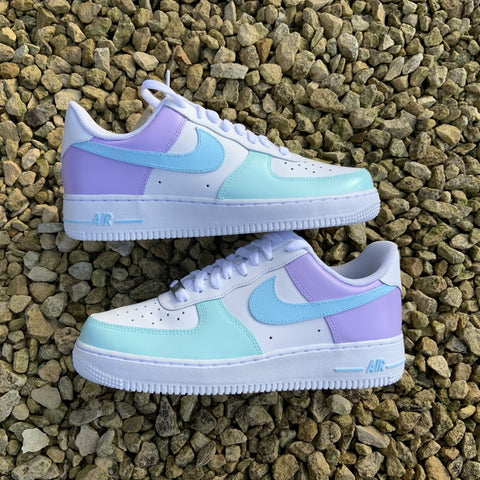 "Custom Nike Air Force 1 ""Pastel Colourblock"""