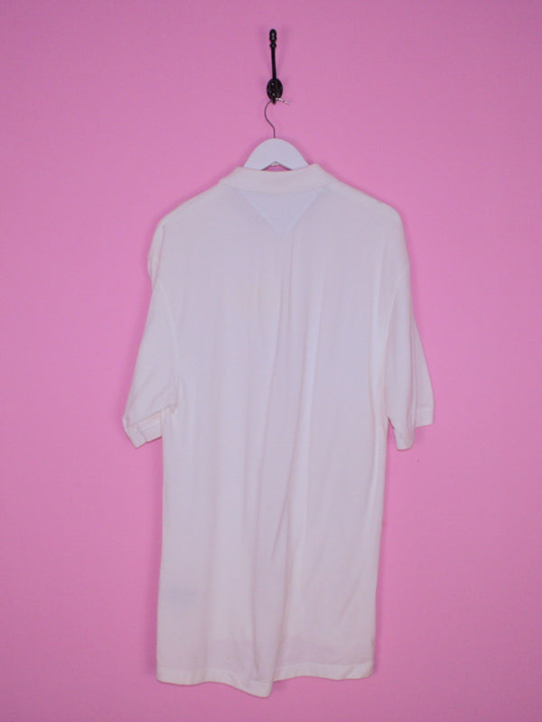 White Tommy Hilfiger Polo Shirt L - BB Vintage Clothing