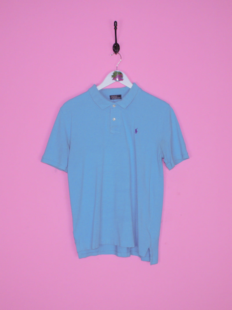 Light Blue Ralph Lauren Polo Shirt S - BB Vintage Clothing