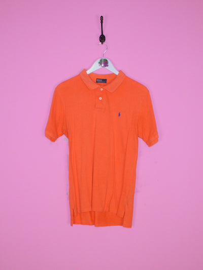 Orange Ralph Lauren Polo Shirt S - BB Vintage Clothing